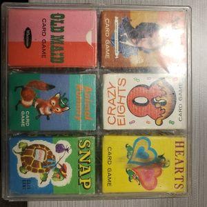 Vintage.1960s--.6 tiny whitman card games